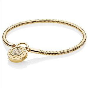Authentic Pandora Padlock Bracelet - Gold